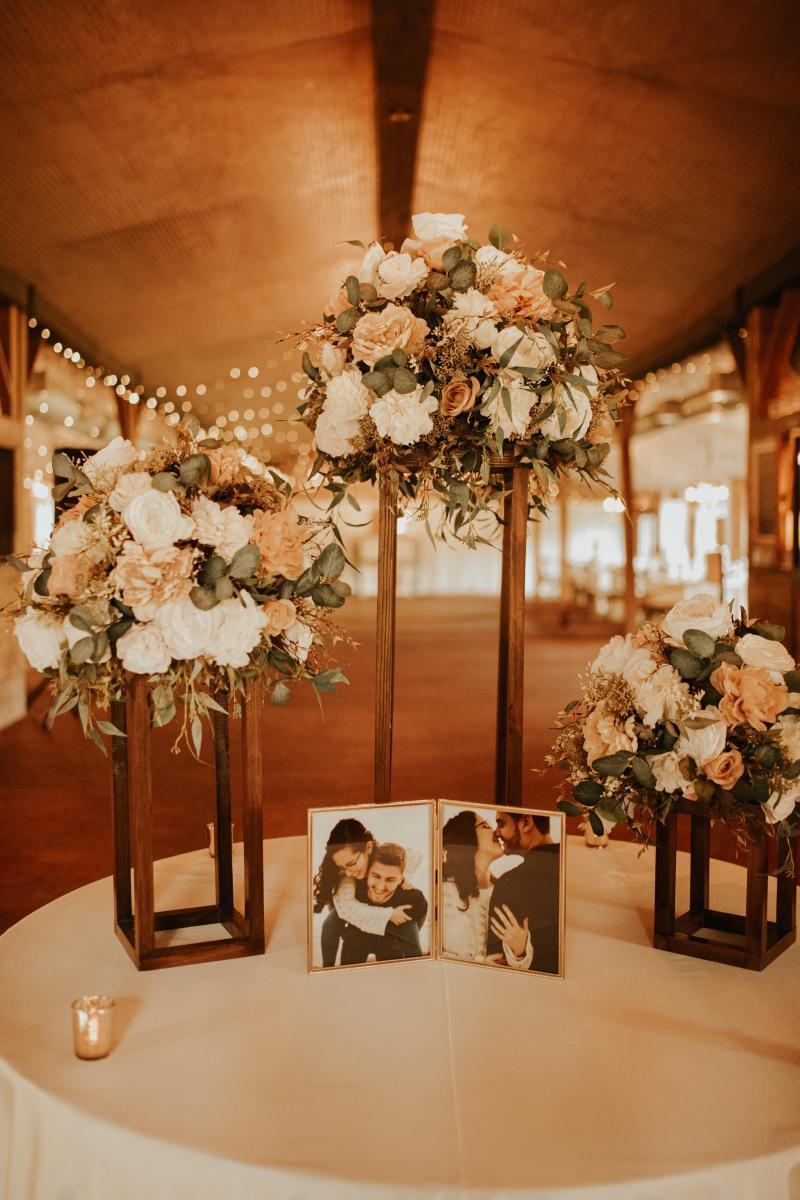 Elegant boho wedding decor