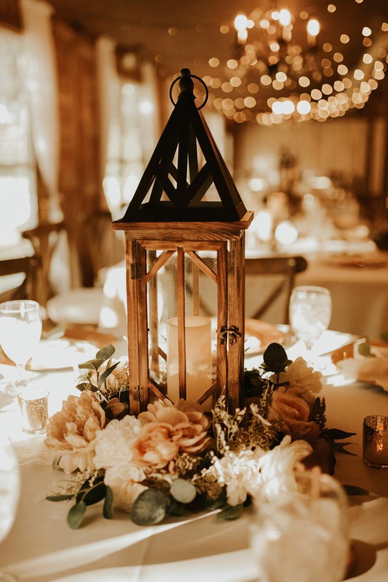 Rustic boho wedding centerpiece