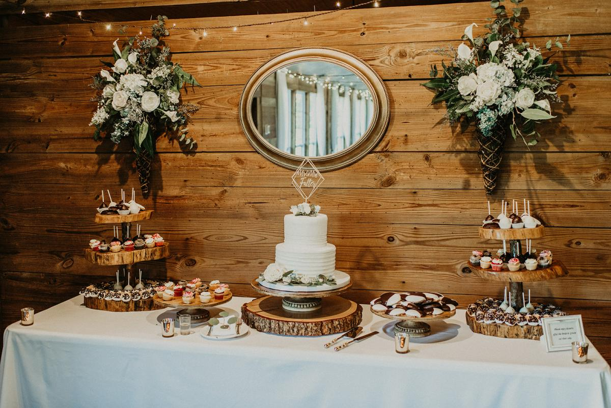 Mitch and Linea's cake and dessest display