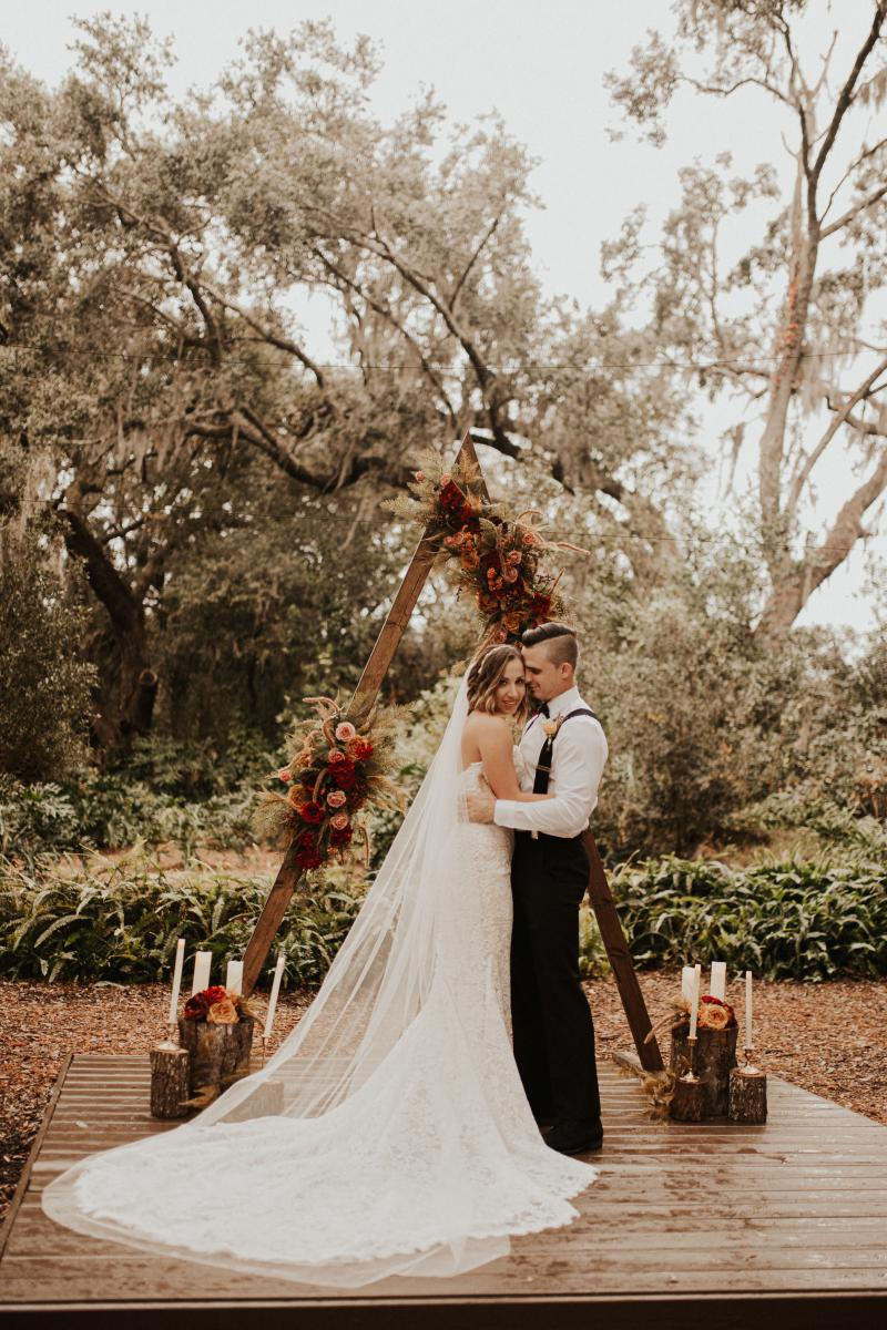 Boho ceremony at the Enchanted Forest