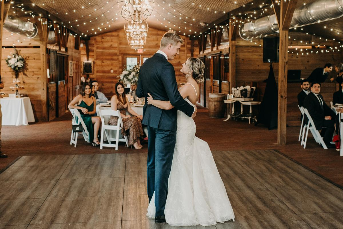 Mitch and Linea's first dance