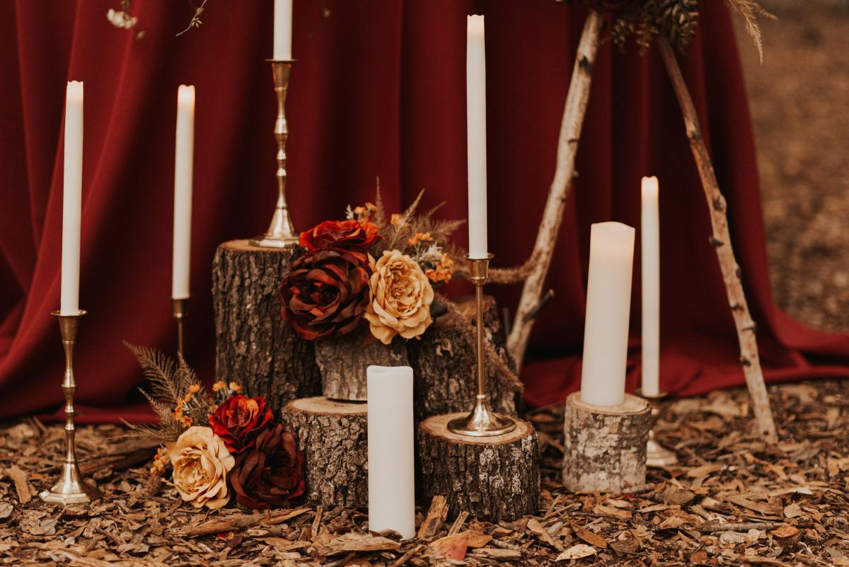 Rustic and natural elements for a boho wedding