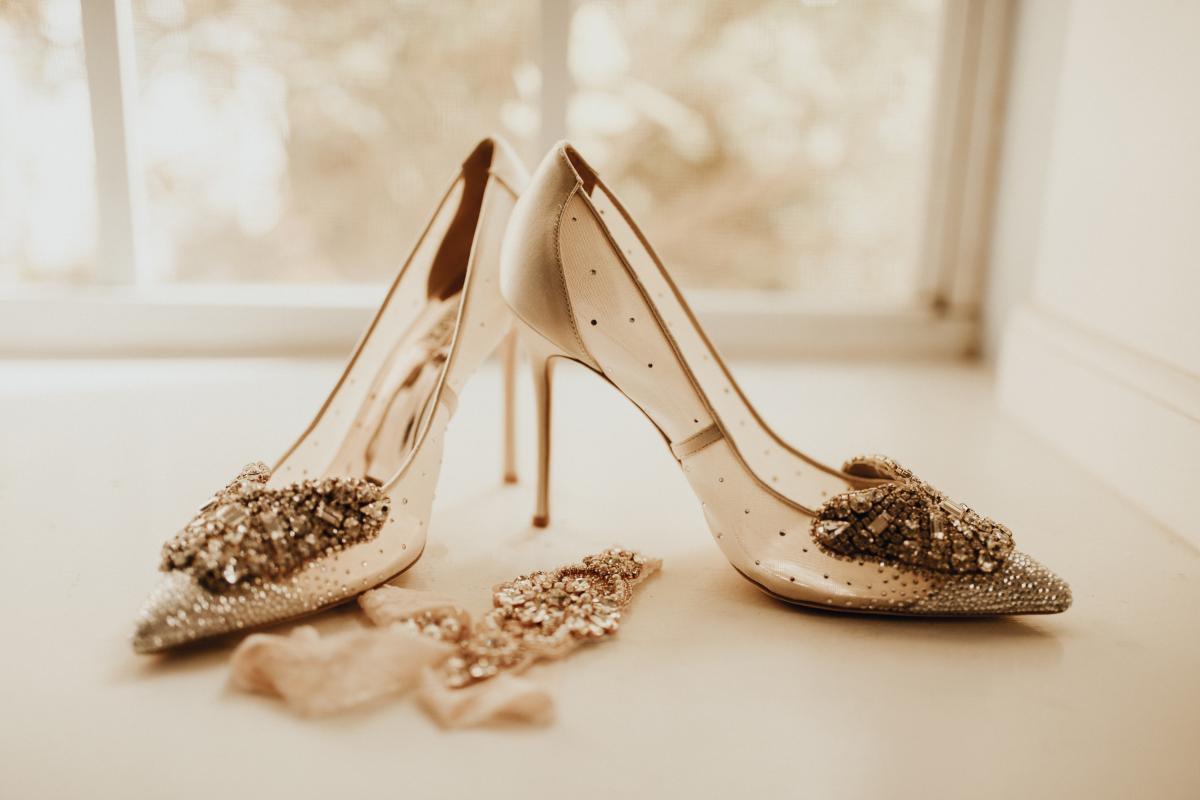 Sadie's wedding shoes