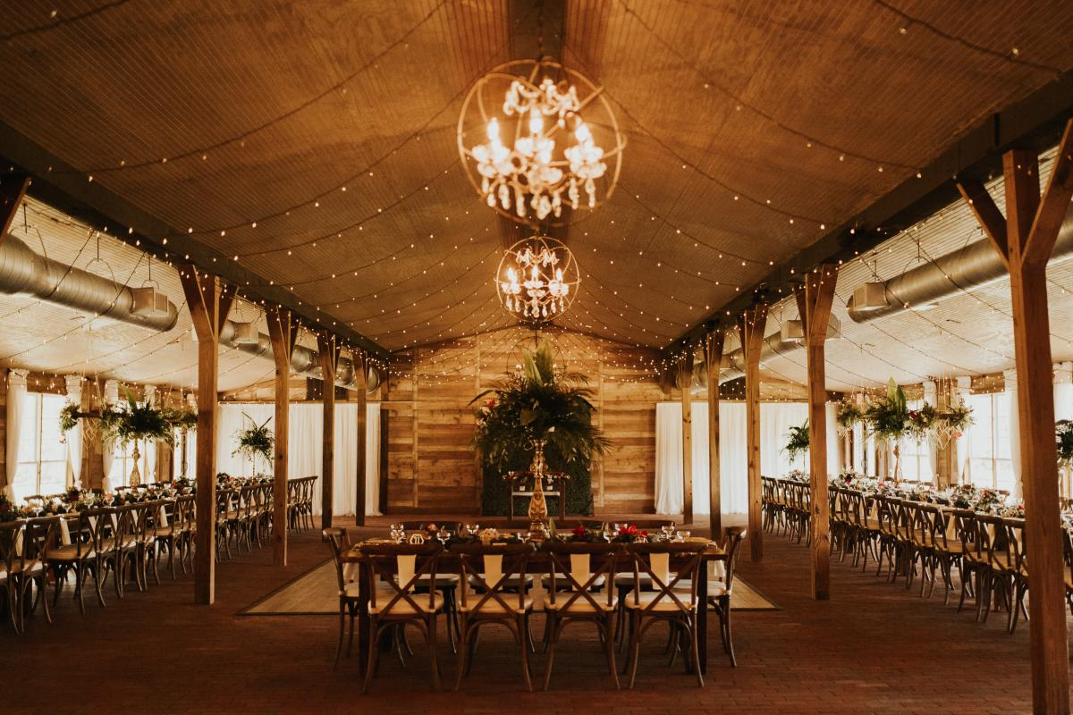 The fully decorated reception space