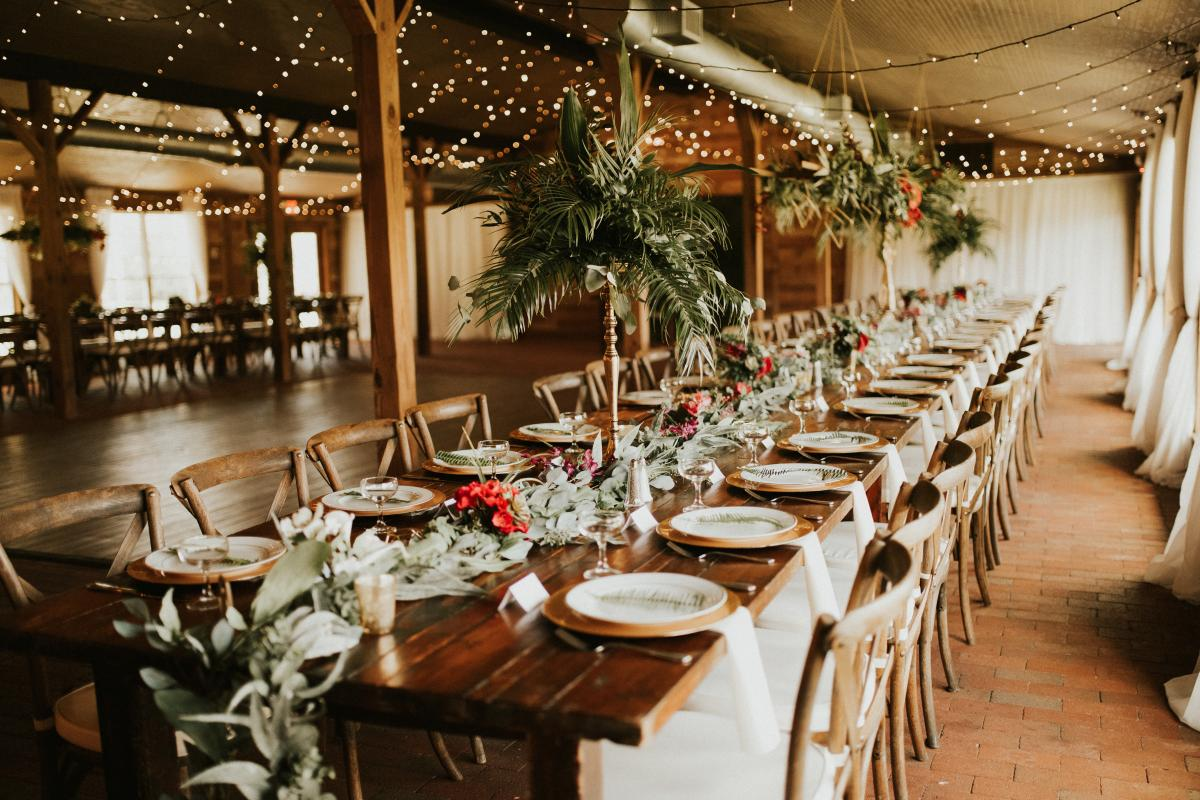 Tropical decor for Sadie and Kirans Hindu tropical wedding