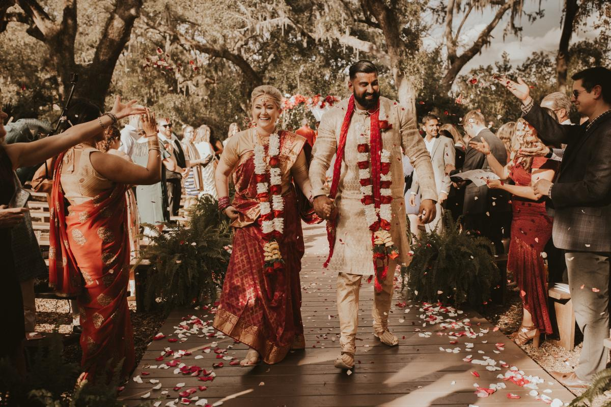 Sadie and Kiran are married after the Hindu ceremony