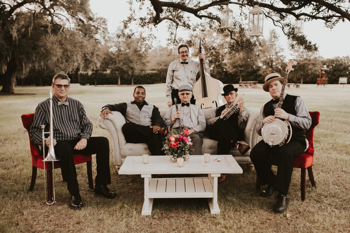The Jazz Phools sitting on Cross Creek Ranch's lounge furniture