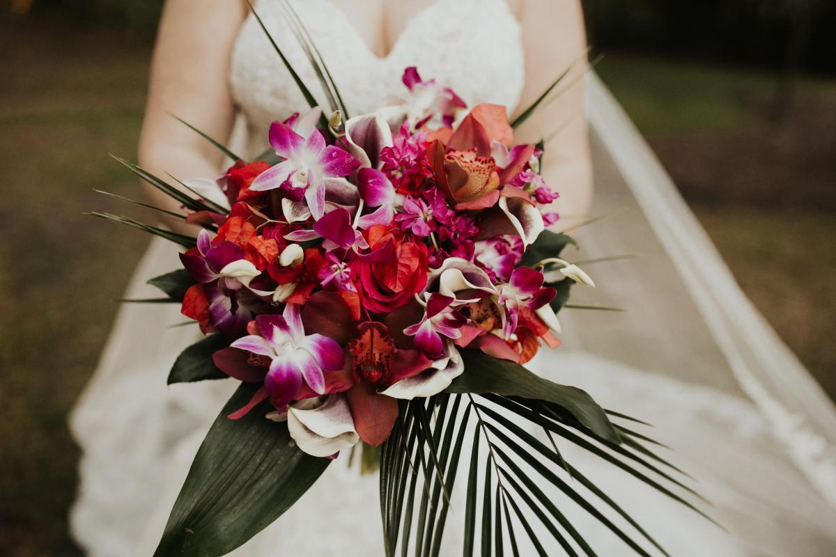 Sadie's tropical bouquet by Alta Fleura