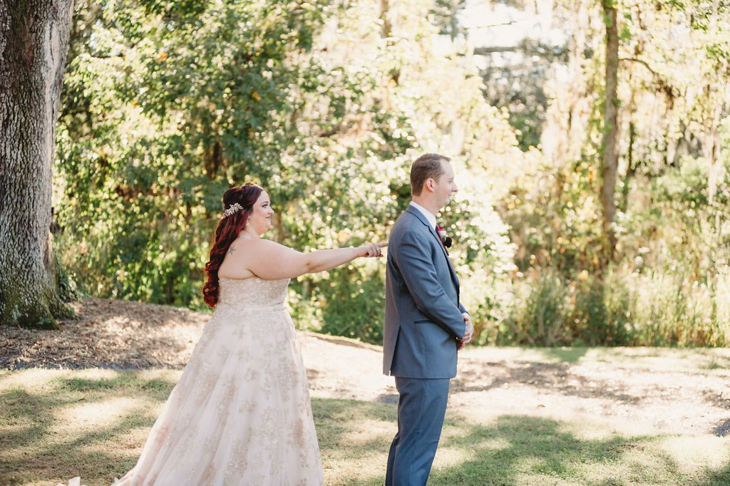 Heather and Jarrod's first look