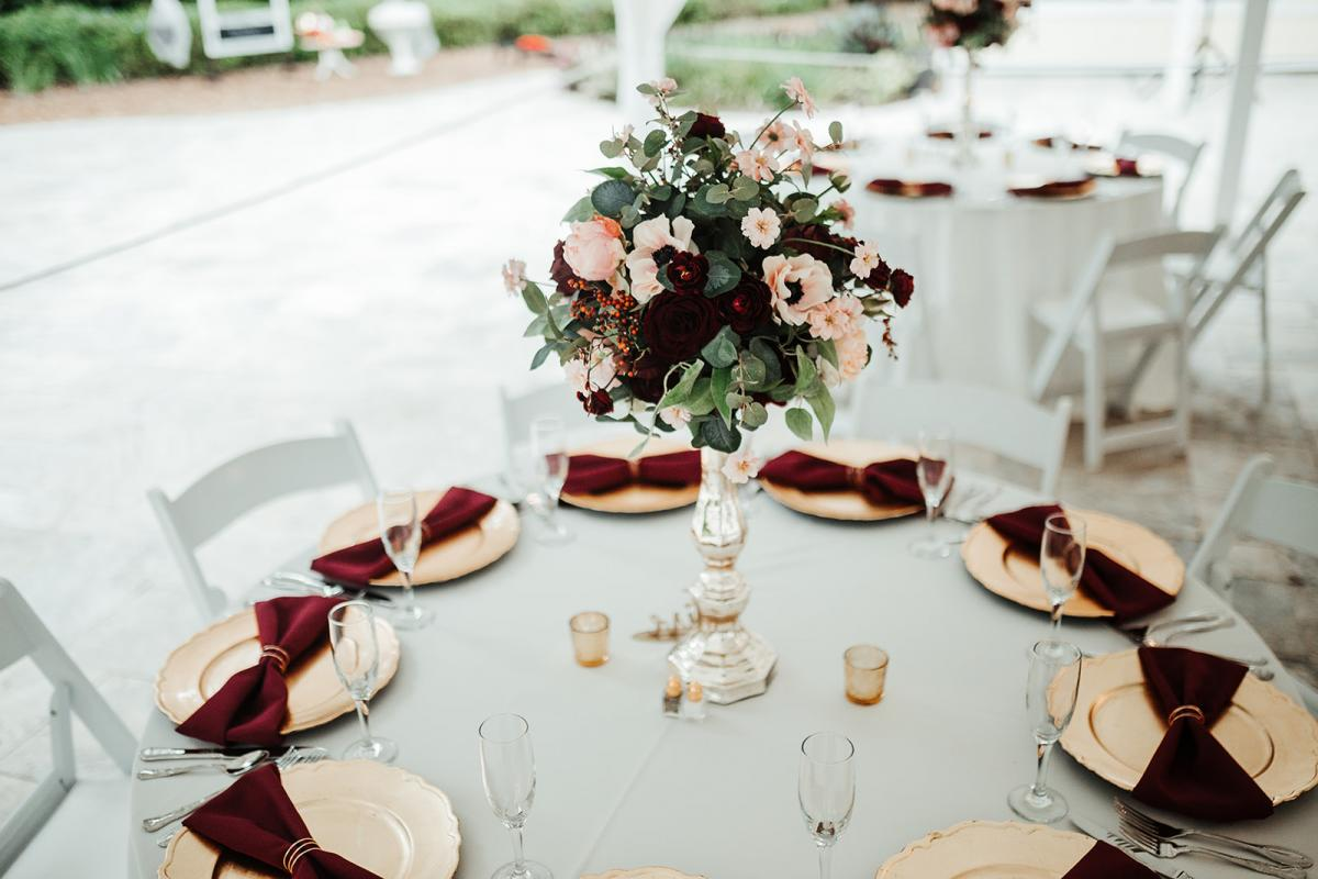 Elegant and traditional tablescape