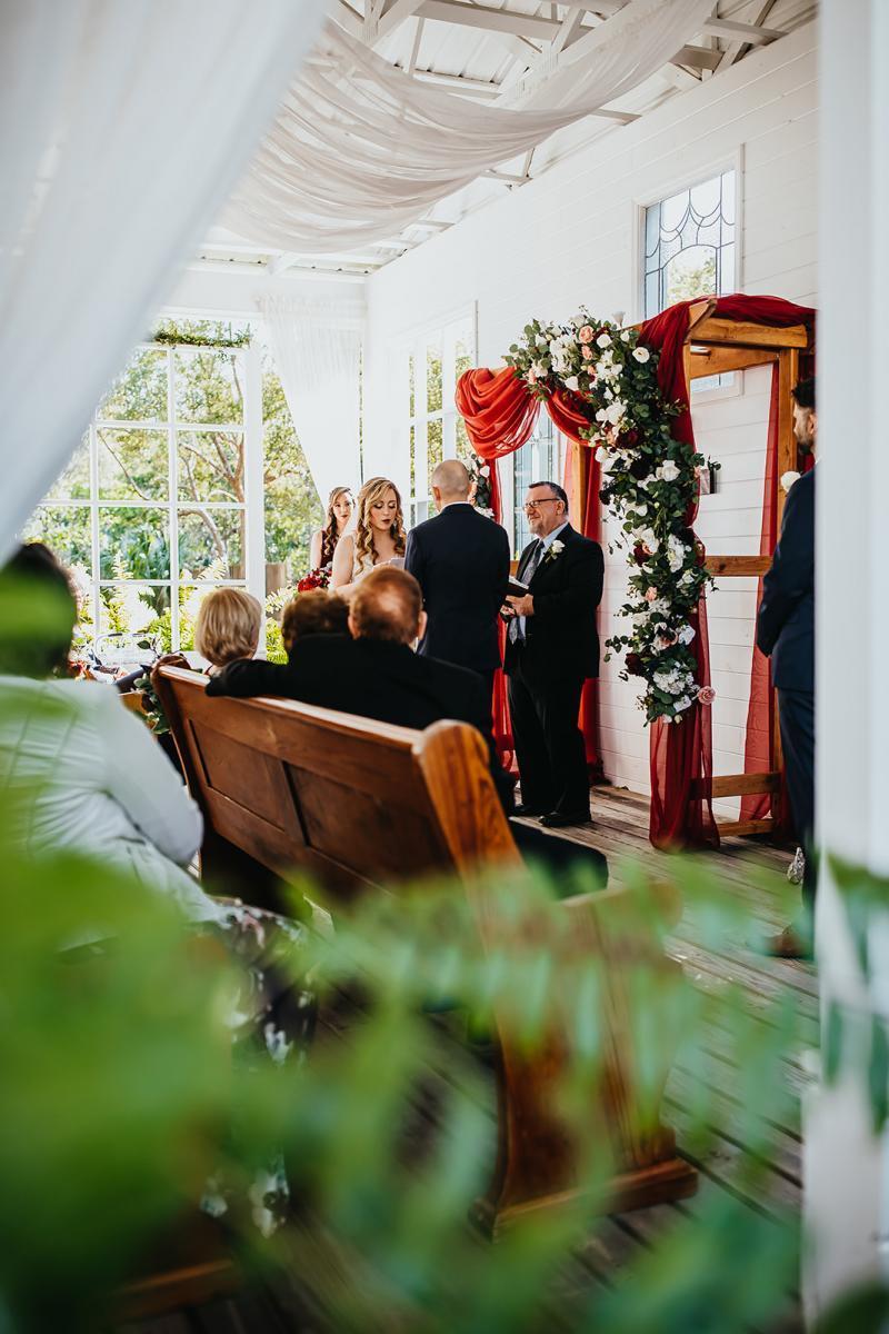 Chapel wedding ceremony