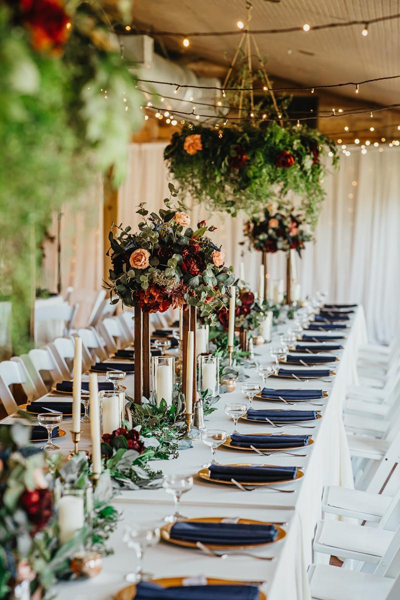 Enchanting wedding reception decor