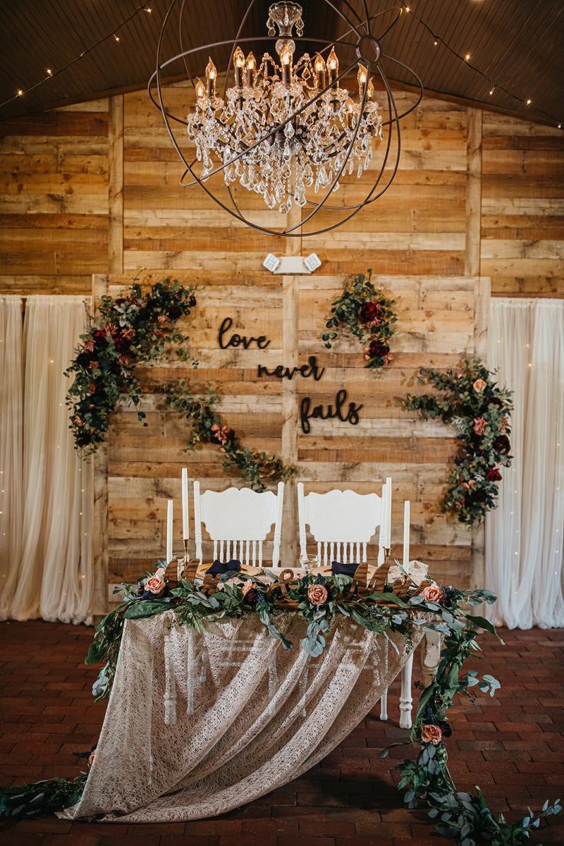 Enchanting sweetheart table