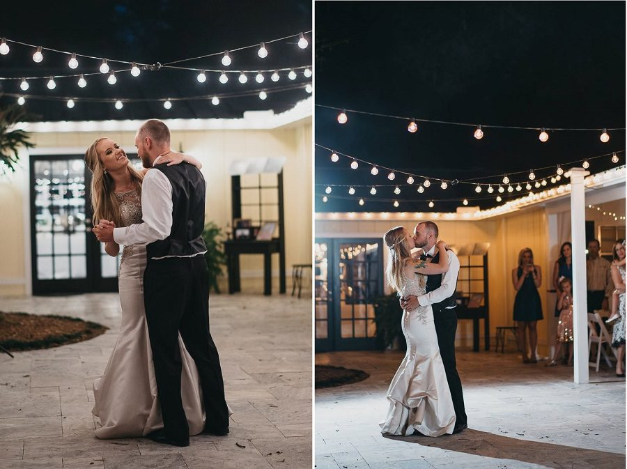 First dance as newlyweds.
