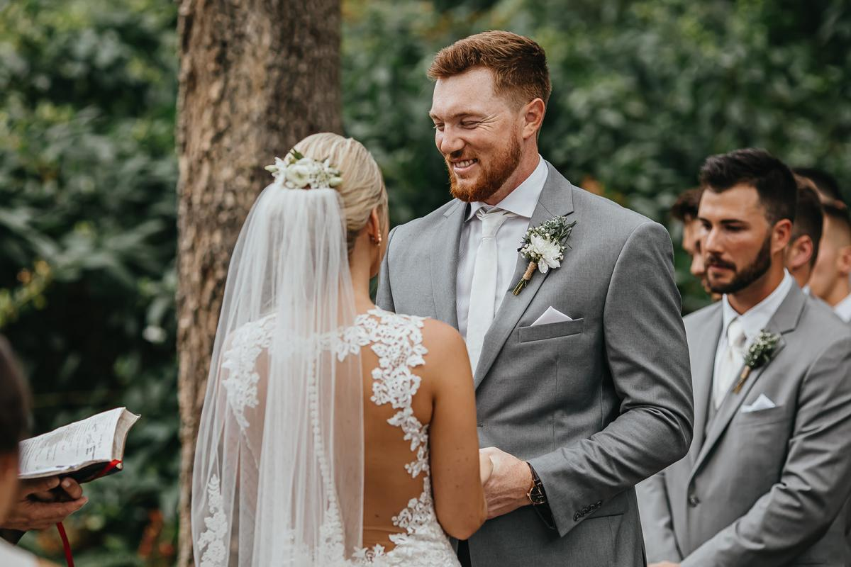 Nick and Bri during their vows