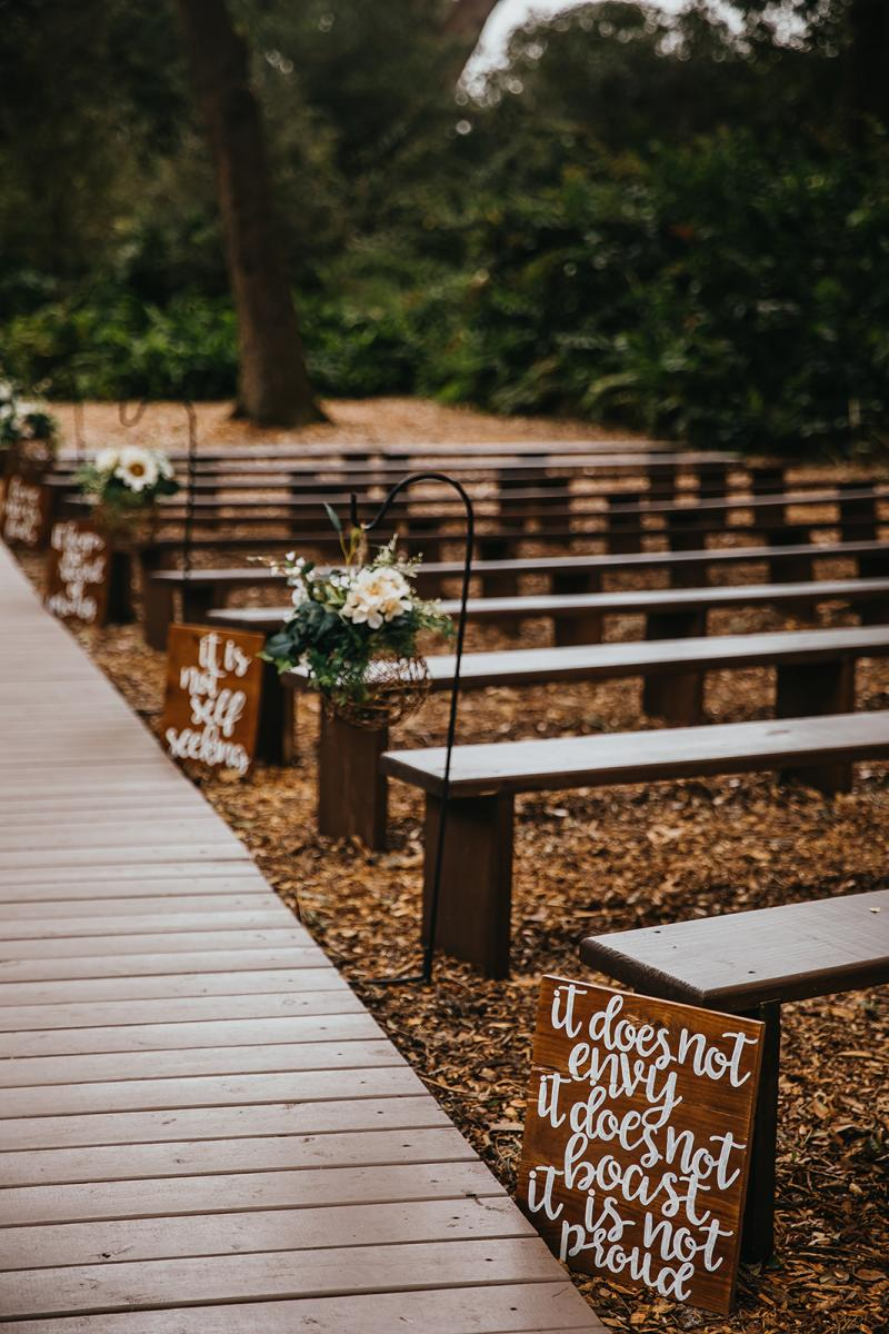 Enchanted Forest sign aisle decor
