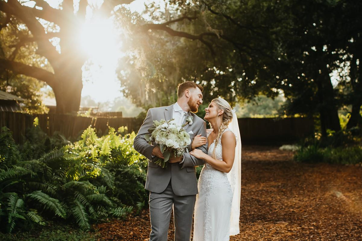 Nick and Bri during their rustic southern dream wedding