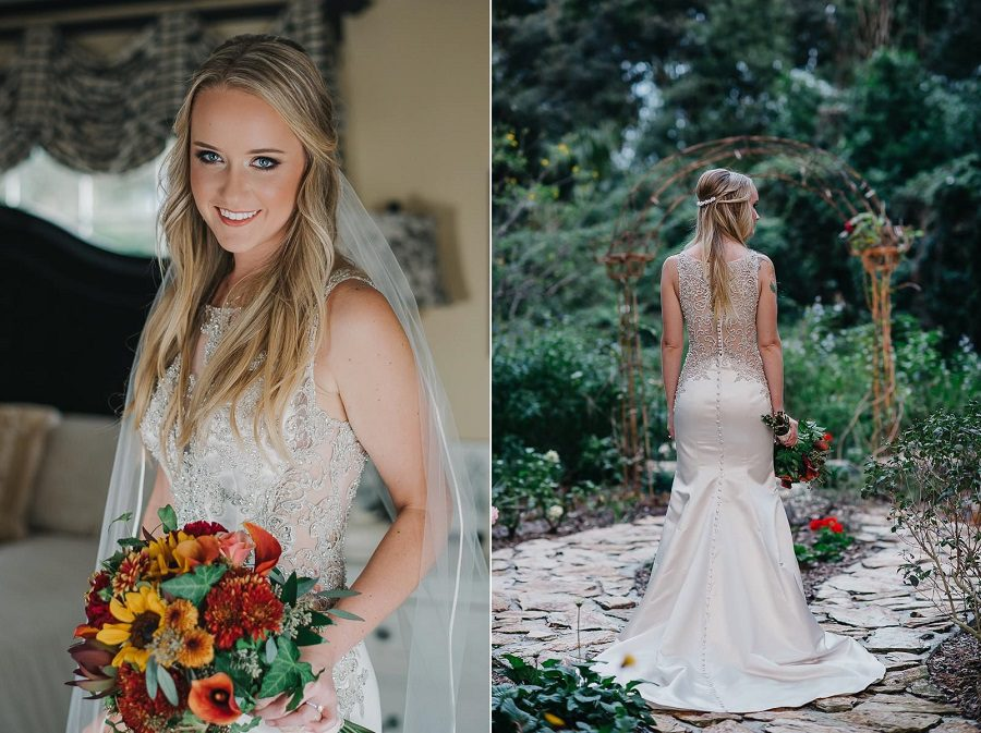 Amanda was stunning in her beaded wedding gown.