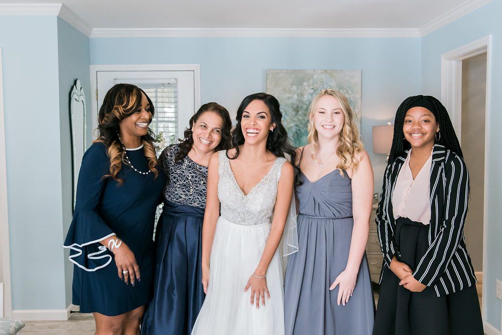 Giselle and her bridal party