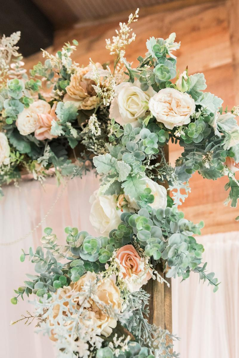 Floral details for Giselle and Dino's wedding