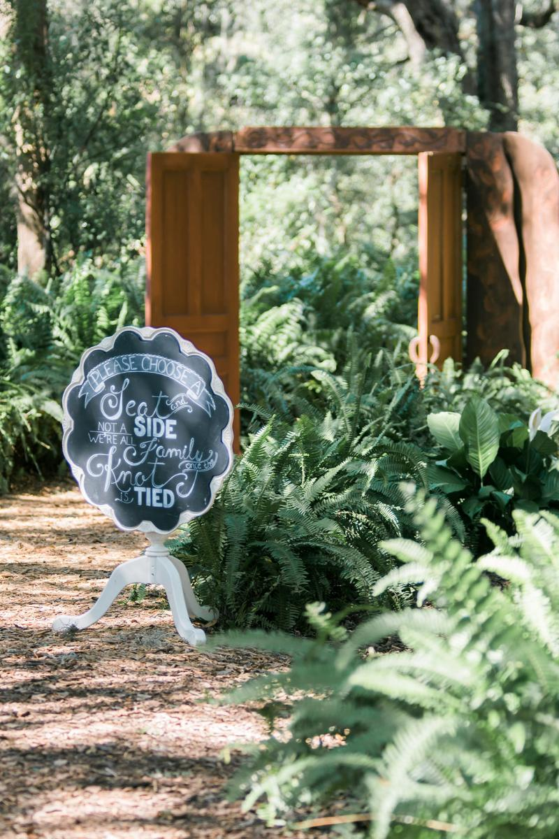 Wedding sign at the Enchanted Forest