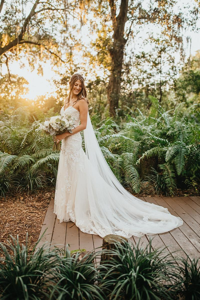 Trumpet lace wedding gown