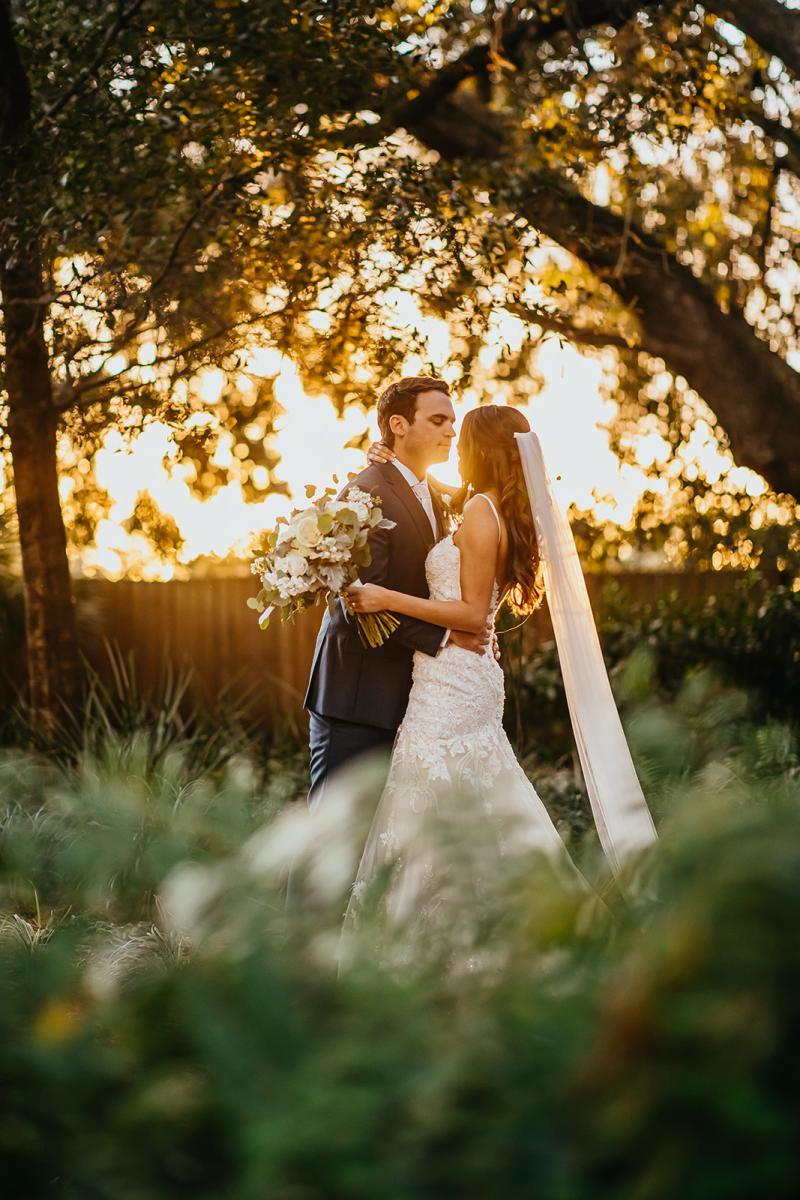 Sunset sweetheart wedding pictures