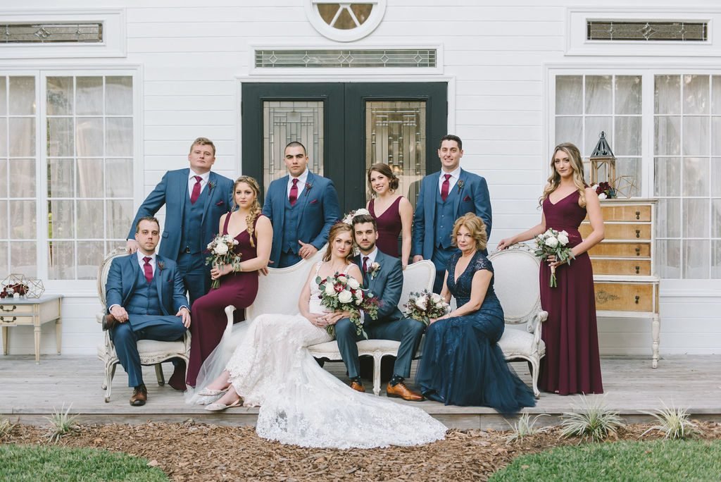 Haley and Paul with their wedding party
