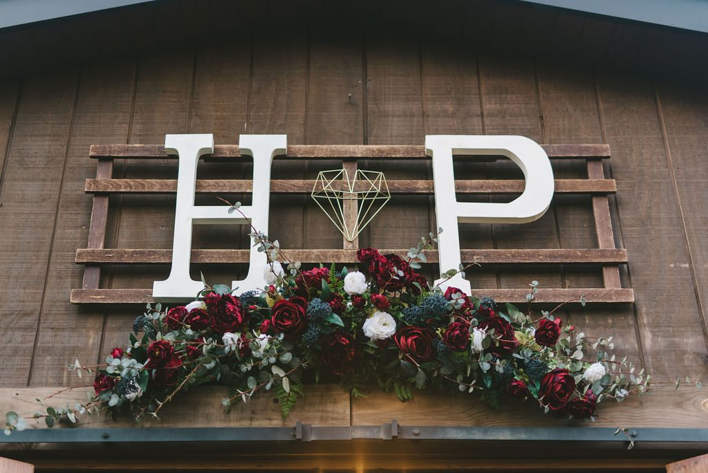 Haley and Paul's modern boho wedding decor