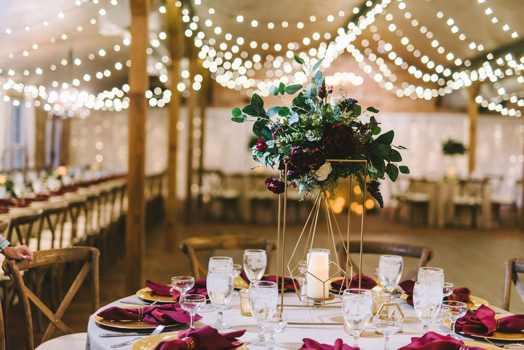 Modern boho wedding centerpiece