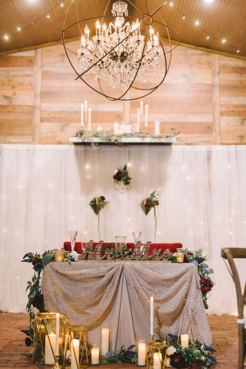 Modern boho sweetheart table decor