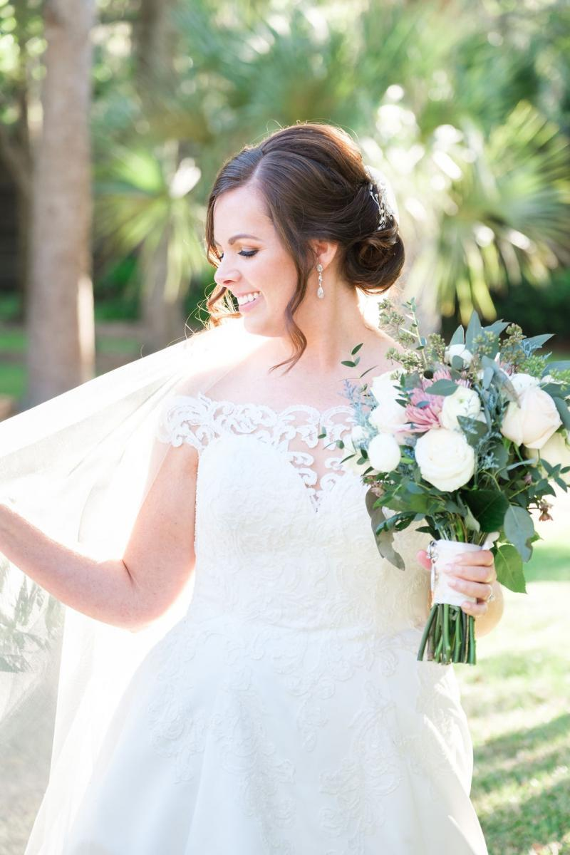 Haley looked stunning on her wedding day