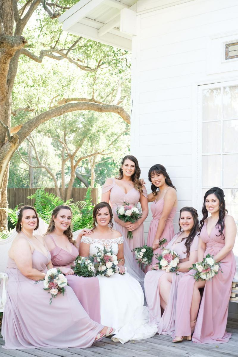 Haley and her bridesmaids