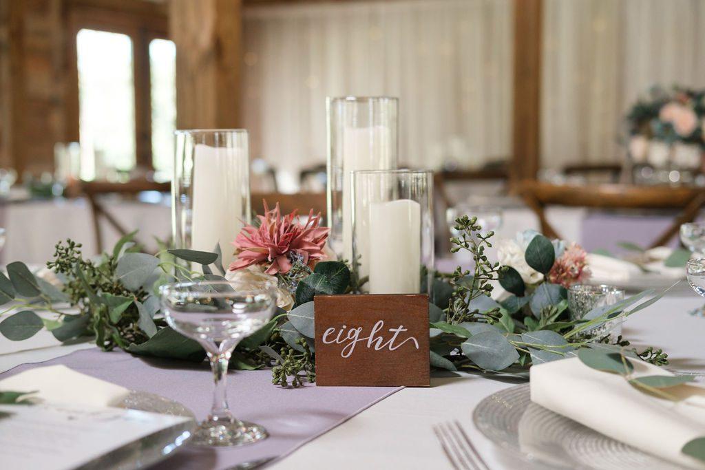 Sweet Spring wedding centerpieces
