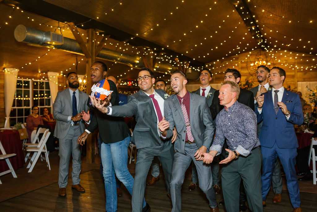 All the single guys catching the garter