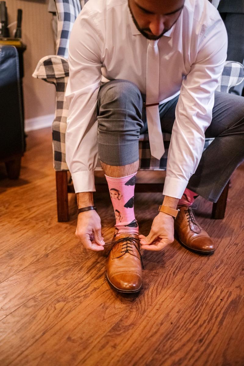 Fun wedding day socks