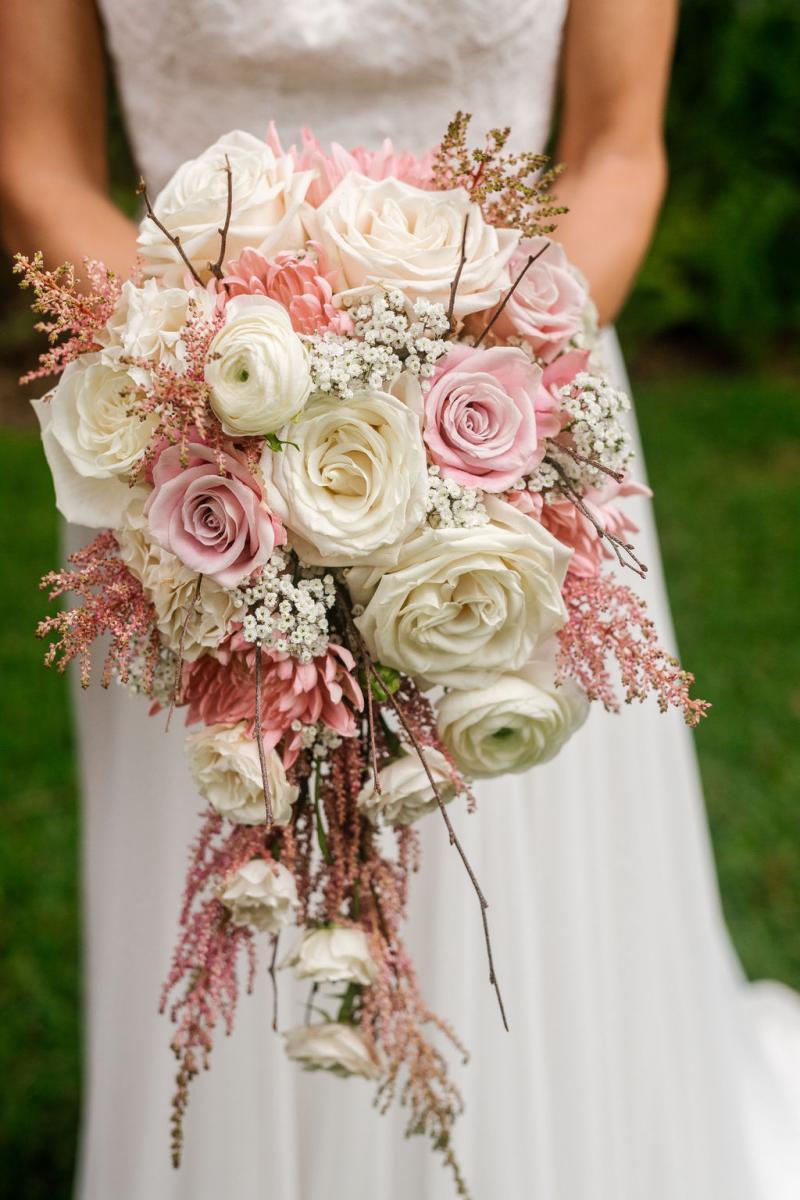 dusty rose bouquet