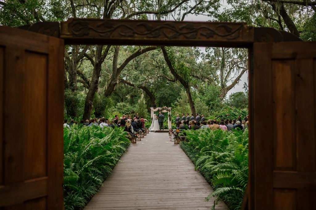 The Enchanted Forest ceremony doors