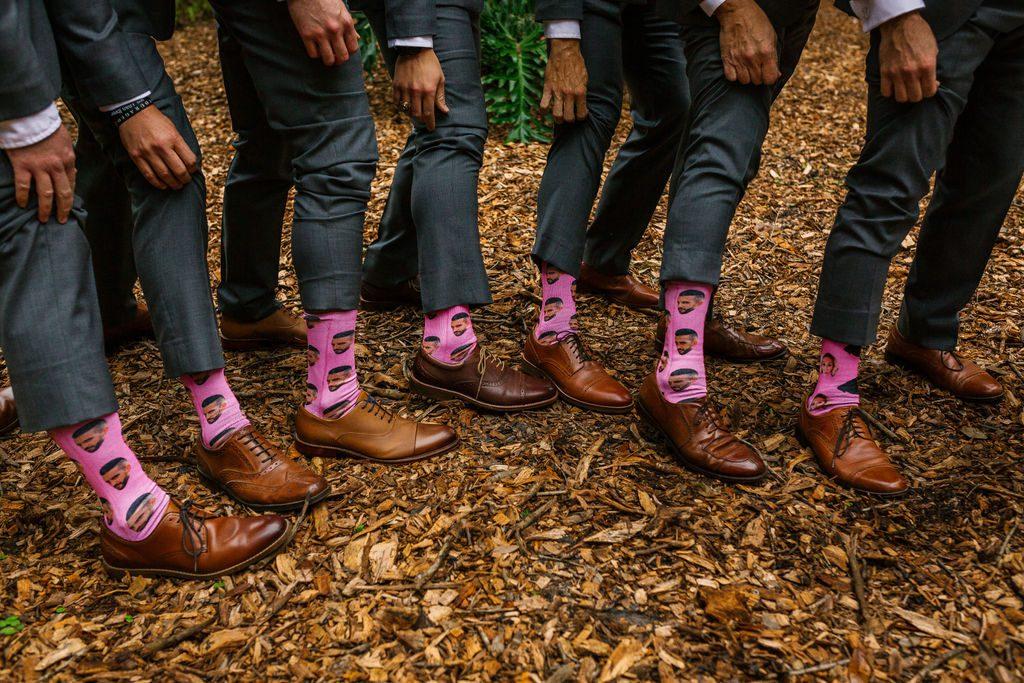 Fun wedding socks for the groomsmen