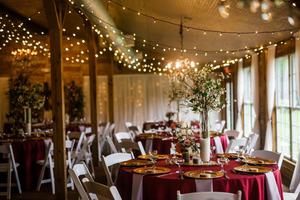 Burgundy and dusty rose wedding