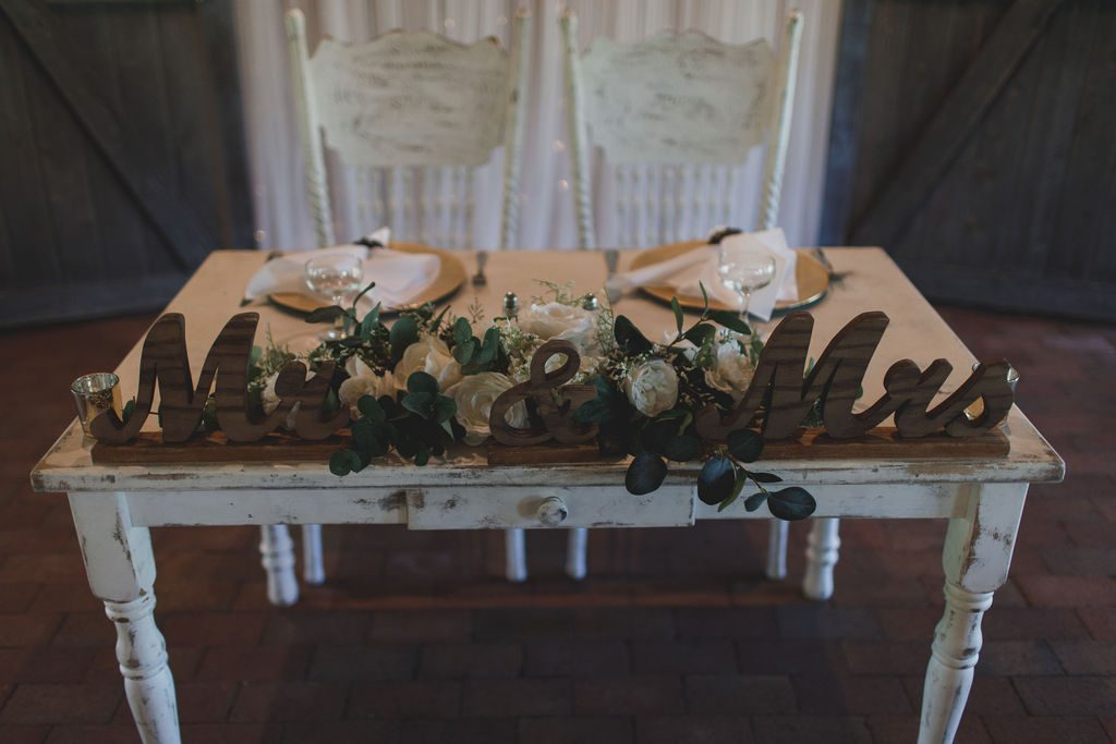 Nicki and Shannon's sweetheart table