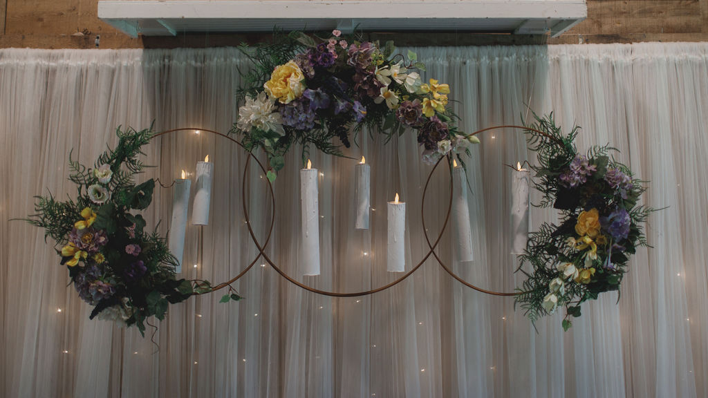 Harry Potter inspired wedding reception decor
