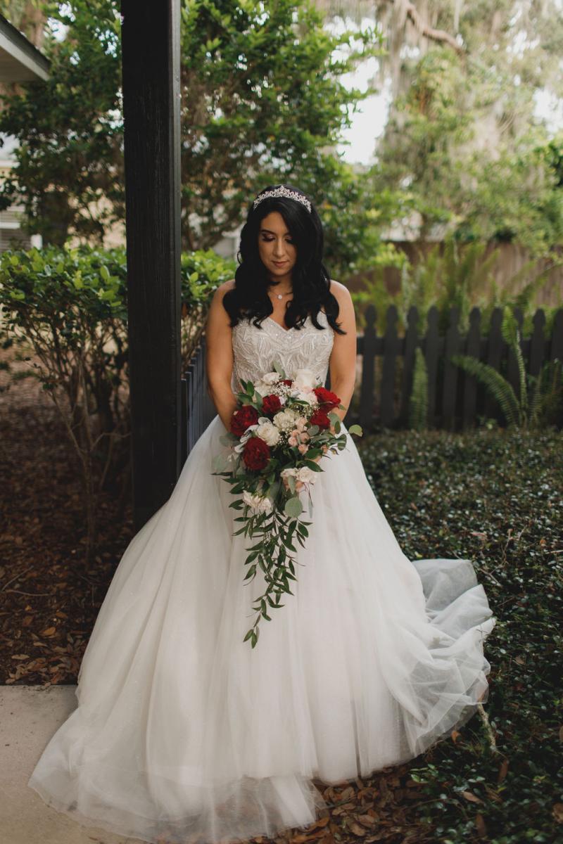 Jennifer's cascading bouquet by Alta Fleura