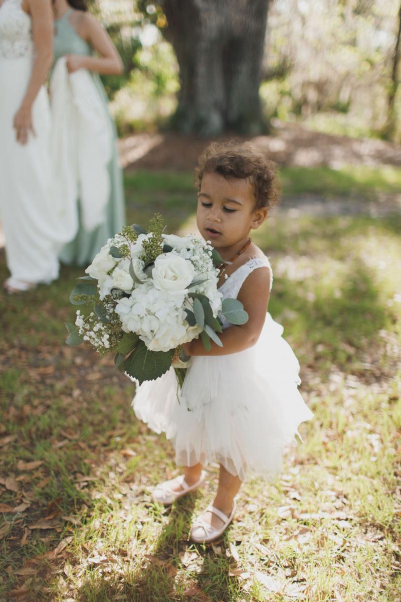 The cutest flower girl