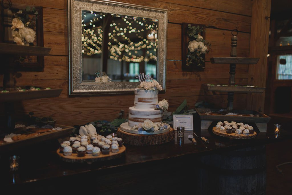 Wedding cake table at the Carriage House Stable
