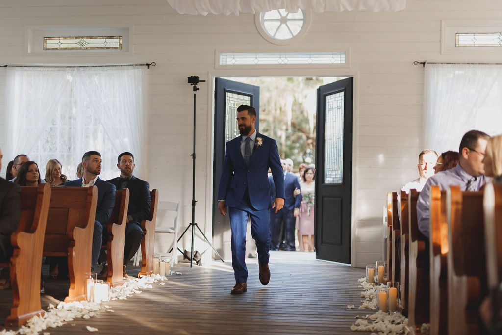 Tony walking down the aisle