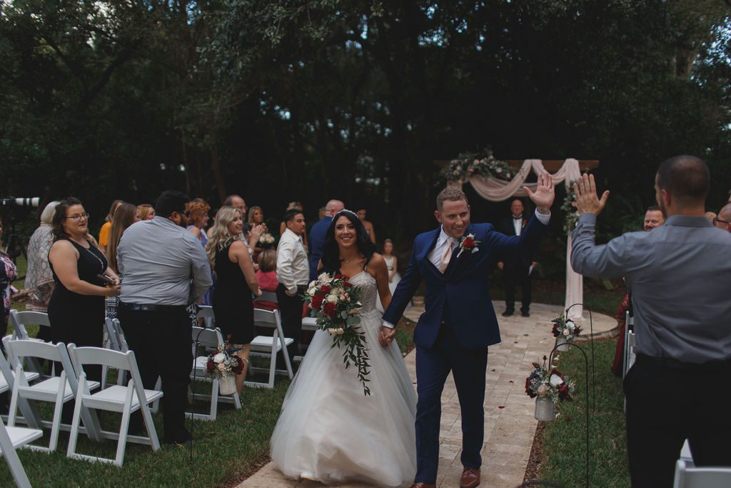Jennnifer and Chad's recessional