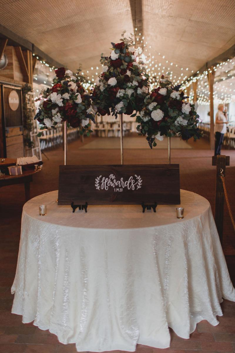 Wedding entrance table