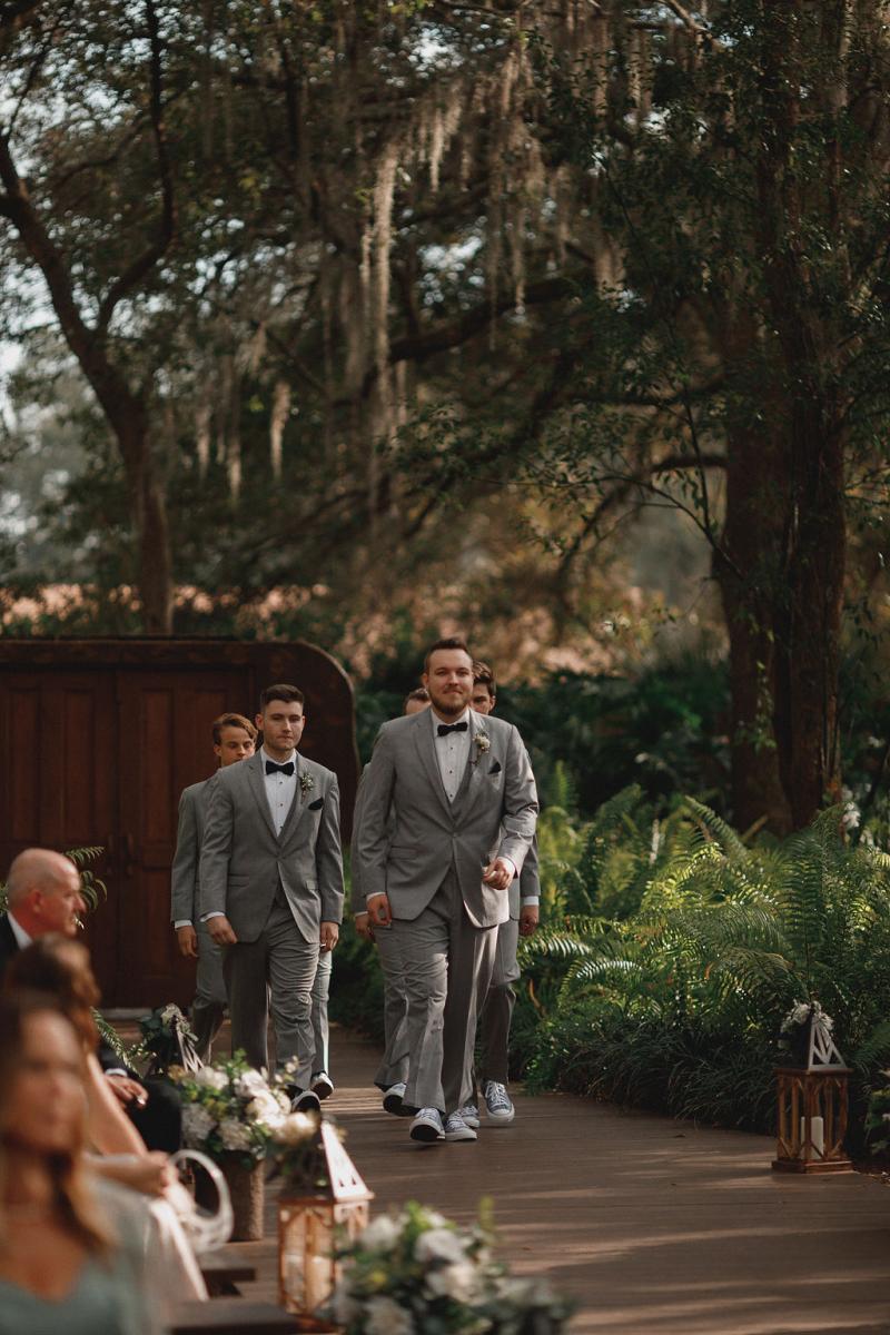 Florida ranch wedding ceremony
