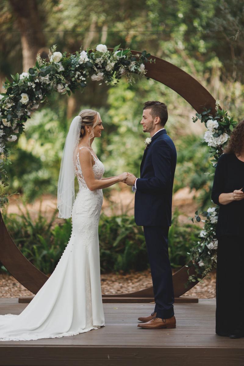 Romantic Enchanted Forest wedding ceremony